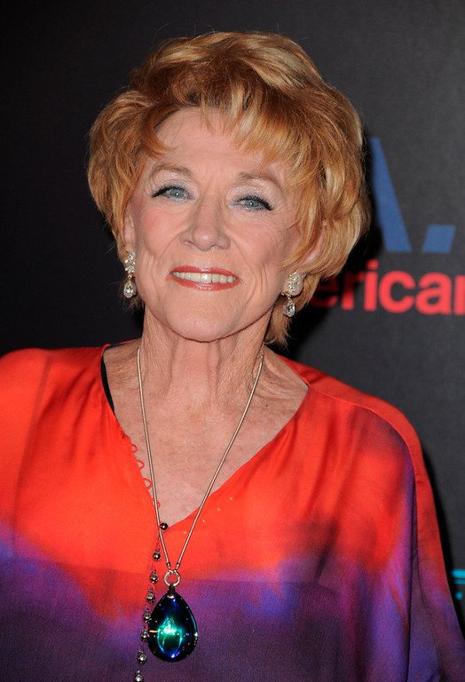 """. In this June 27, 2010 file photo, Jeanne Cooper arrives at the 37th Annual Daytime Emmy Awards at Las Vegas Hilton in Las Vegas, Nevada.  CBS says soap opera star Jeanne Cooper has died. She was 84.  Cooper played grande dame Katherine Chancellor on CBS\' \""""The Young and the Restless\"""" for nearly four decades. (Photo by Jordan Strauss/Invision/AP Images, File)"""