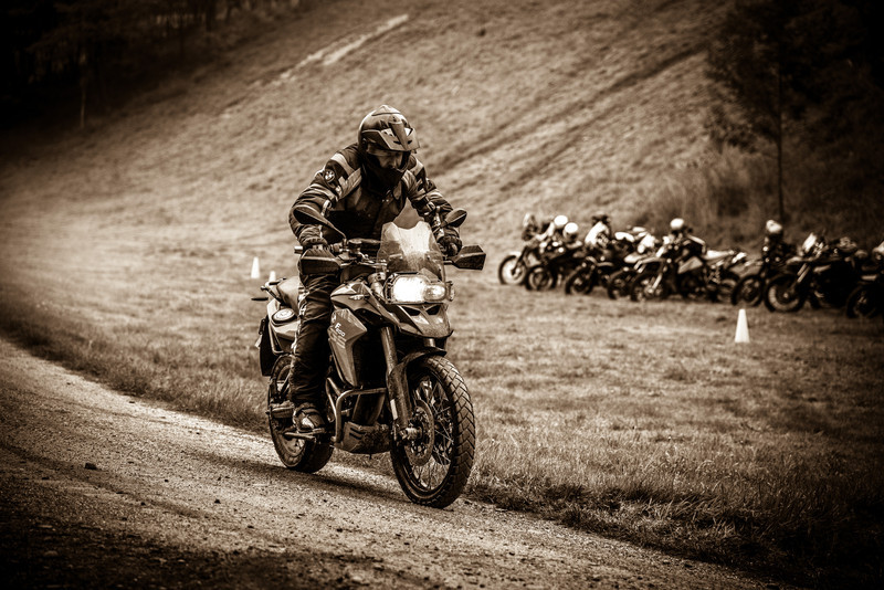 Riding instructor, Chris Urquhart seemed to really enjoy his first foray into the bigger bikes.