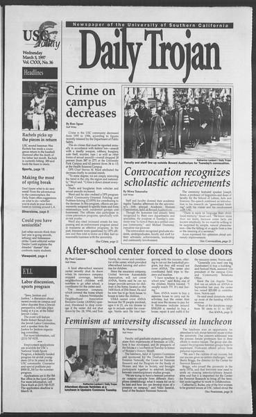 Daily Trojan, Vol. 130, No. 36, March 05, 1997
