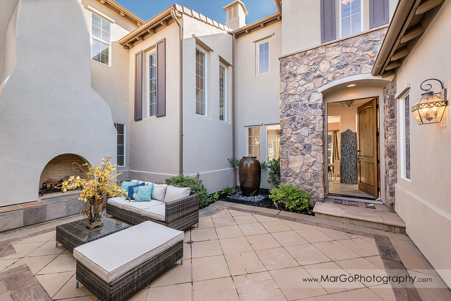 inner patio of San Ramon house - real estate photography