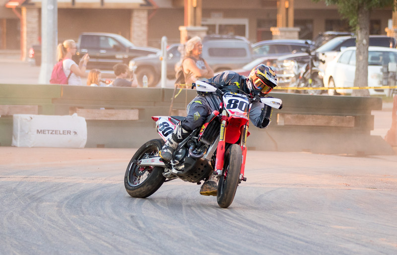 Action photo from a 2018 AMA Supermoto National Championship Series event. Photo courtesy of DRT Racing