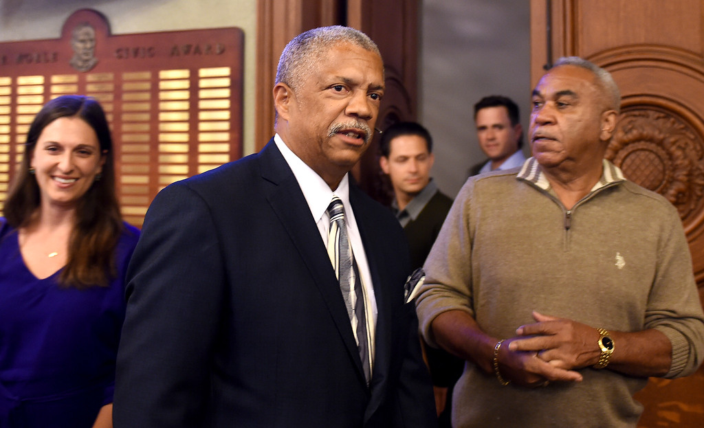 . Calvin Wells, City Council District 1, was losing in votes in a close election with Tyron Hampton (Photo by Walt Mancini/Pasadena Star-News)