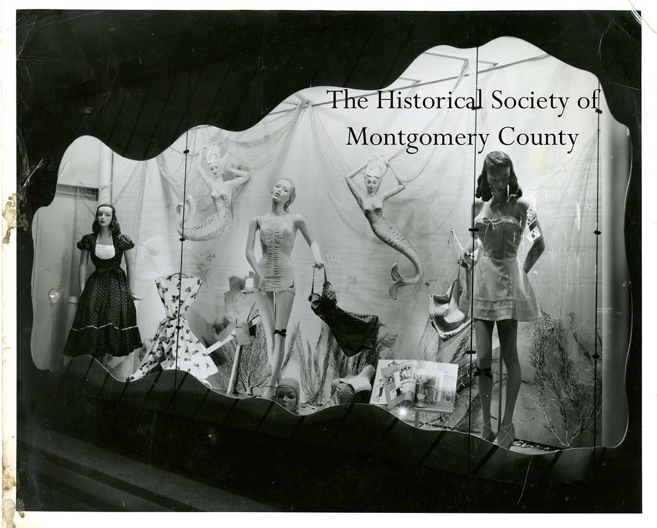 . This photo from the Historical Society of Montgomery County shows Novelle\'s store in Norristown circa the 1950s.