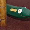 carved timber snake