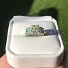 2.10ct Art Deco Peruzzi Cut Diamond Ring, GIA W-X SI2 35