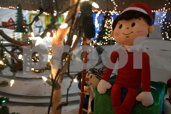 12/12/2017 Mike Orazzi | Staff Santa Land Village at Rockwell Park Tuesday evening. Each holiday season Miss Rockwell's Pavilion in Rockwell Park is transformed into a winter wonderland full of holiday fun and entertainment. Visit with Santa and Mrs. Claus, make a holiday craft, and view and elaborate train display.