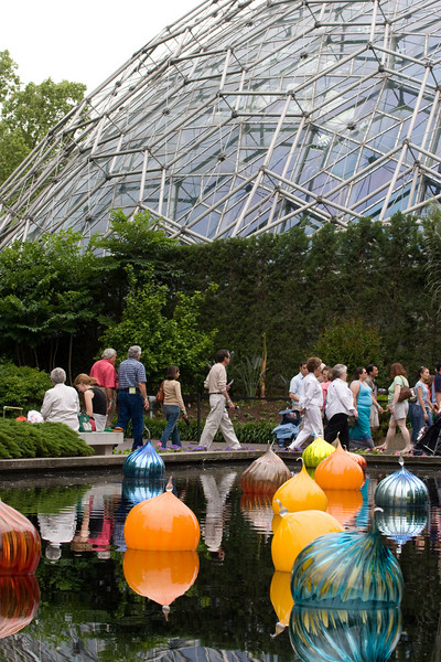 Chihuly glass sculpture exhibit at MoBot