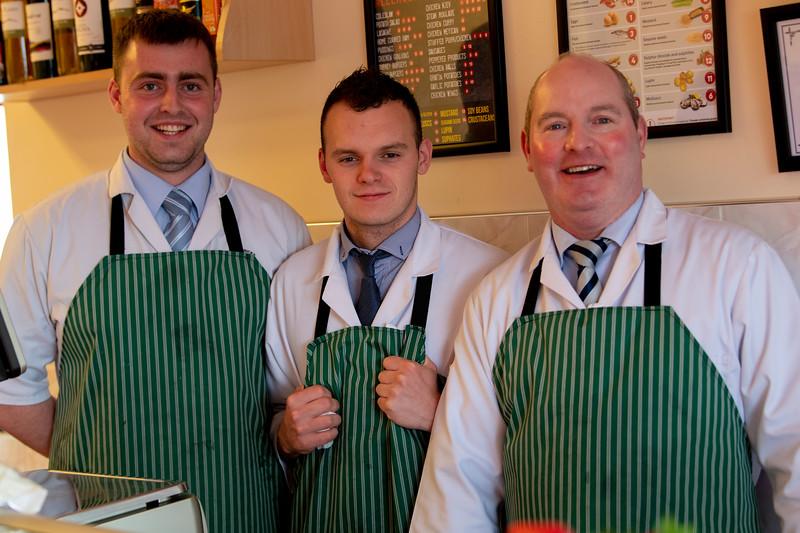 Happy cooks in a restaurant, Achill Sound, Achill Island, County Mayo, Republic of Ireland