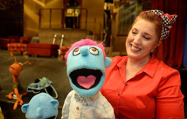Fairfield High drama teacher uses handmade puppets in her classroom