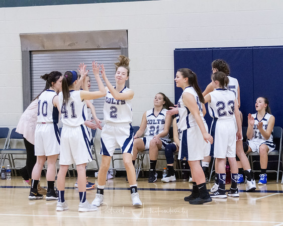 2018-12-18 Hillsdale Academy JV and Varsity Girl's Basketball vs. Bellevue