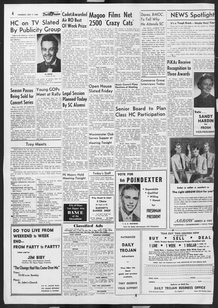 Daily Trojan, Vol. 46, No. 15, October 07, 1954