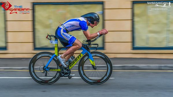 Cardiff Triathlon - Panning Bike Shots
