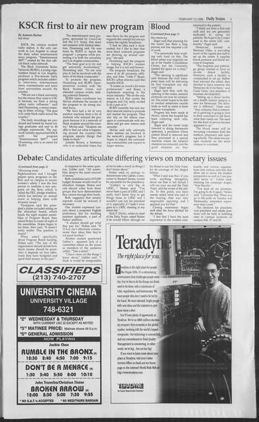 Daily Trojan, Vol. 127, No. 28, February 23, 1996