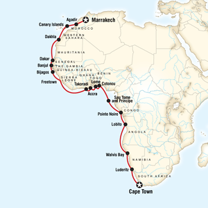 Route of my West Africa Trip