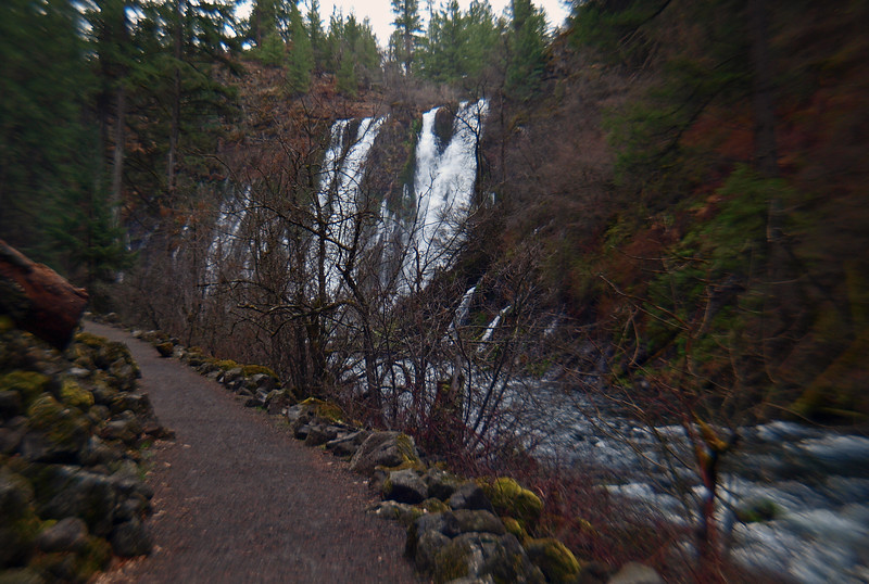 Burney Falls with trail