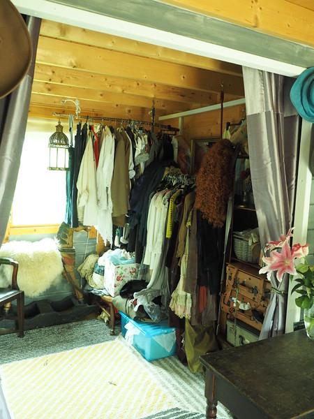 The walk in wardrobe
