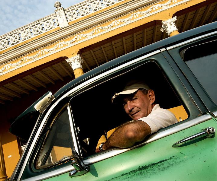Classic american car.  Remedios,Cuba,2006