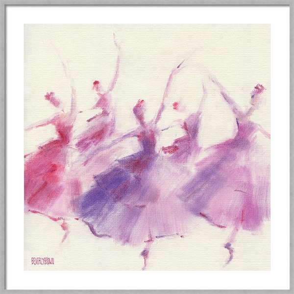 Waltz of the Flowers Nutcracker purple and pink ballet art print by Beverly Brown | www.beverlybrown.com