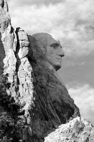 Mt. Rushmore Washington Profile BW.jpg
