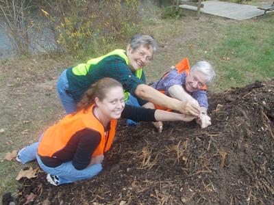 10.26.12 Tree Planting Prep Work before the 10.27.12 Tree Planting