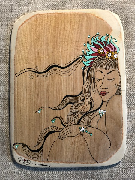 Wood art by Nira Dahan/ 'Day Dreaming'