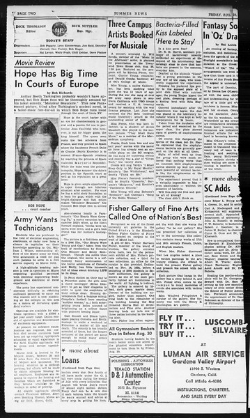 Summer News, Vol. 1, No. 23, August 23, 1946
