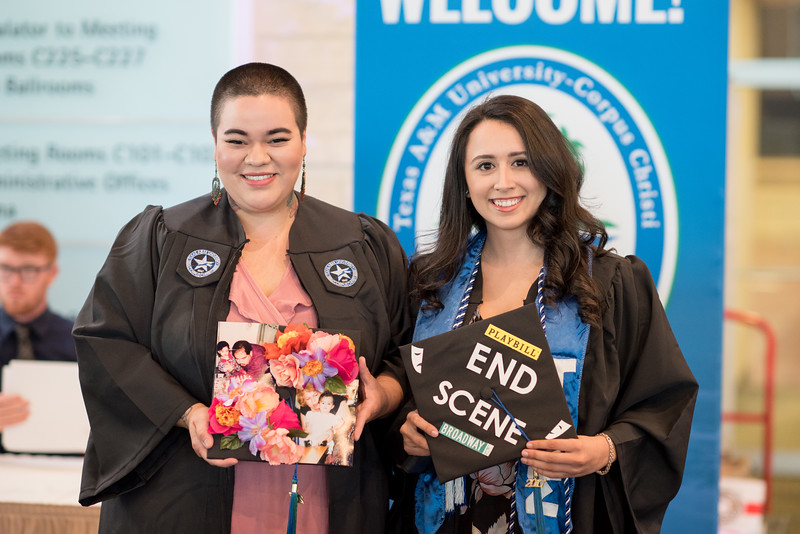 Rose Gutierrez and Ashley Vega. Over 1,100 graduates received their degrees during two commencement ceremonies held on May 13.