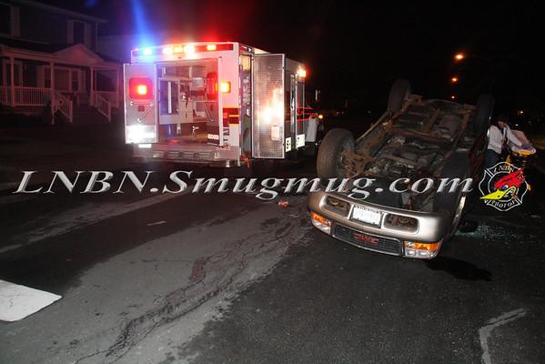 Lindenhurst F.D. Overturned Auto N. Fulton Ave & Frank St. 3-12-13