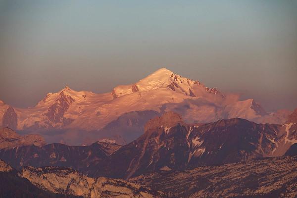 pleine lune Mont Blanc 2018
