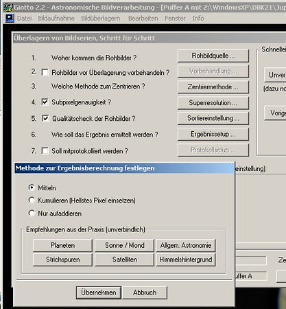 07. Specify the Ergebnissetup i.e. the method how to calculate the final stacked frame.jpg