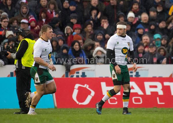 Gloucester Rugby vs Northampton Saints, Aviva Premiership, Kingsholm, 1 January 2017