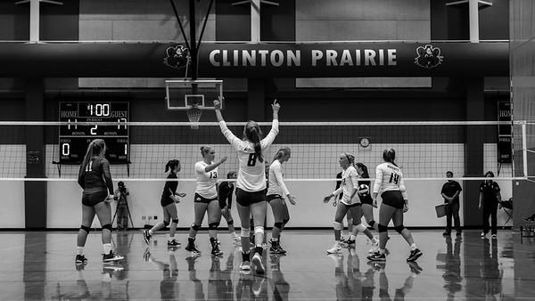 CC Volleyball vs Clinton Prairie 2018-8-30