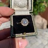 1.97ctw Antique Cluster Ring, GIA G SI2 67