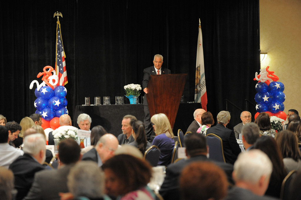 . City of Torrance Mayor Frank Scotto praised the city, its workers, volunteers and businesses Thursday as he gave his State of the City speech at the Torrance Marriott. Photo by Brad Graverson 5-9-13