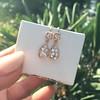 1.51ctw Diamond Mosaic OEC Dangle Earrings 24