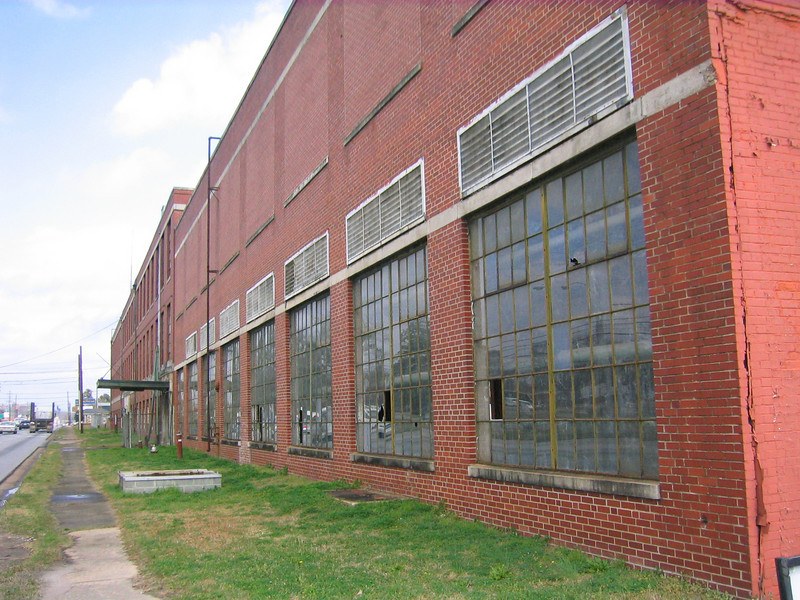 """08 03-14 Lanett Cotton Mill closed and moved off-shore in the 1990's. In the forefront is the """"grey room"""" where Millard worked 3rd shift one summer during high school. lcf"""