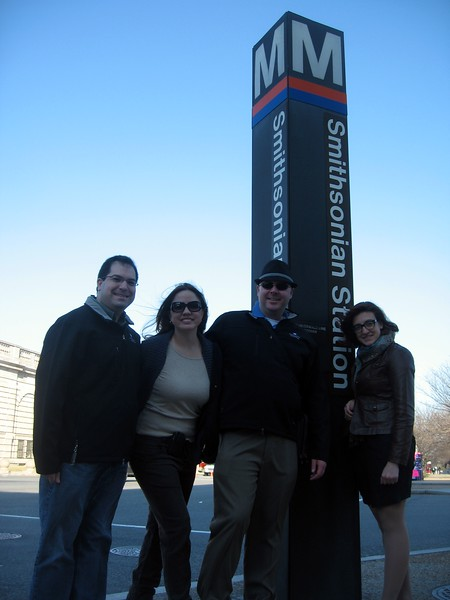At the Smithsonian Metro Station (3/13/11)