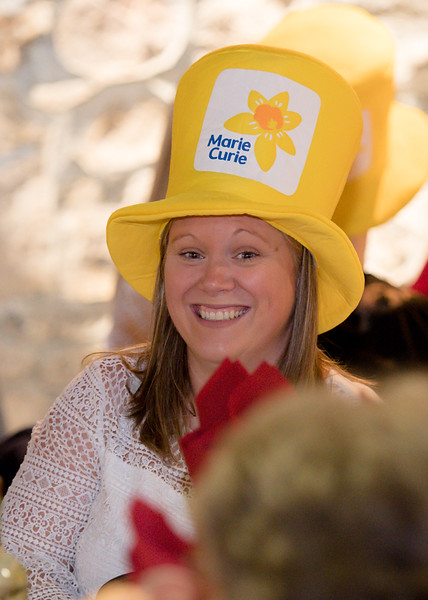 Mairi Davies is all smiles  at the 2018 ladies lunch for Marie Curie)  PHOTO BY JOHN PAUL PEEBLES OF ABRIGHTSIDE