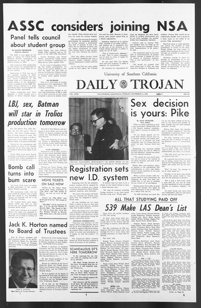 Daily Trojan, Vol. 58, No. 41, November 15, 1966