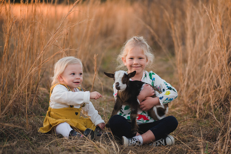 Little girls & goats