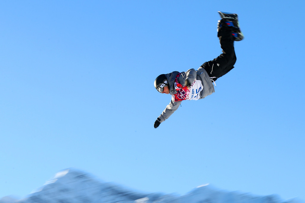 . Mathias Weissenbacher of Austria competes in the Men\'s Slopestyle Qualification during the Sochi 2014 Winter Olympics at Rosa Khutor Extreme Park on February 6, 2014 in Sochi, Russia.  (Photo by Cameron Spencer/Getty Images)