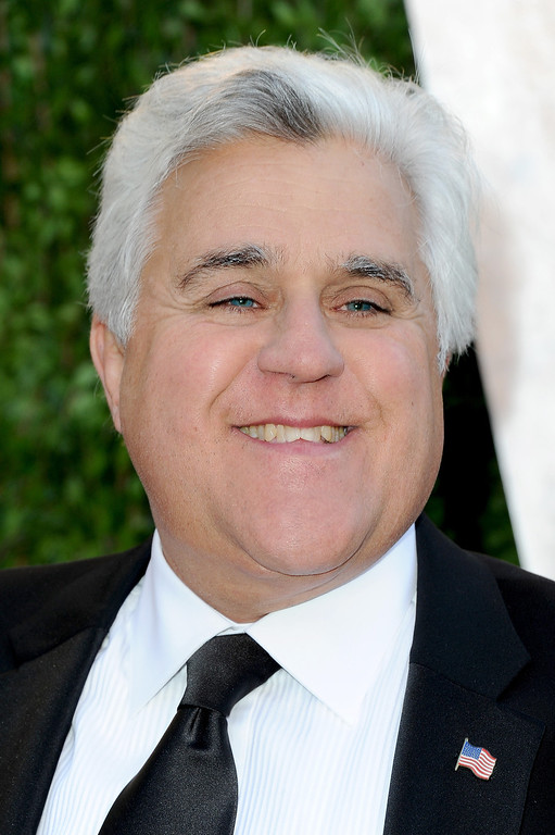 . WEST HOLLYWOOD, CA - FEBRUARY 24: TV personality Jay Leno arrives at the 2013 Vanity Fair Oscar Party hosted by Graydon Carter at Sunset Tower on February 24, 2013 in West Hollywood, California.  (Photo by Pascal Le Segretain/Getty Images)