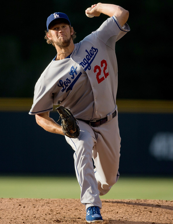 . Clayton Kershaw #22 of the Los Angeles Dodgers delivers to home plate during the first inning against the Colorado Rockies at Coors Field on July 2, 2013 in Denver, Colorado.  (Photo by Justin Edmonds/Getty Images)