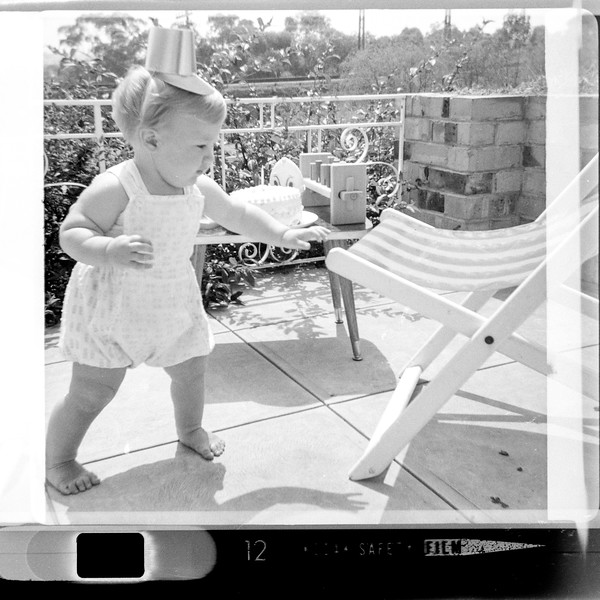 Anthony Holmes, first birthday, 19th February 1965 at 46 Windsor Avenue, Mount Waverley, Vic, Australia.