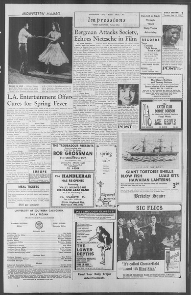 Daily Trojan, Vol. 53, No. 122, May 10, 1962