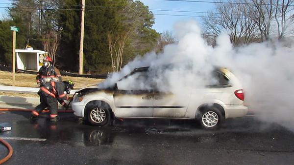 2/03/2011 - Mini Van on Fire Chancellors Run Rd.