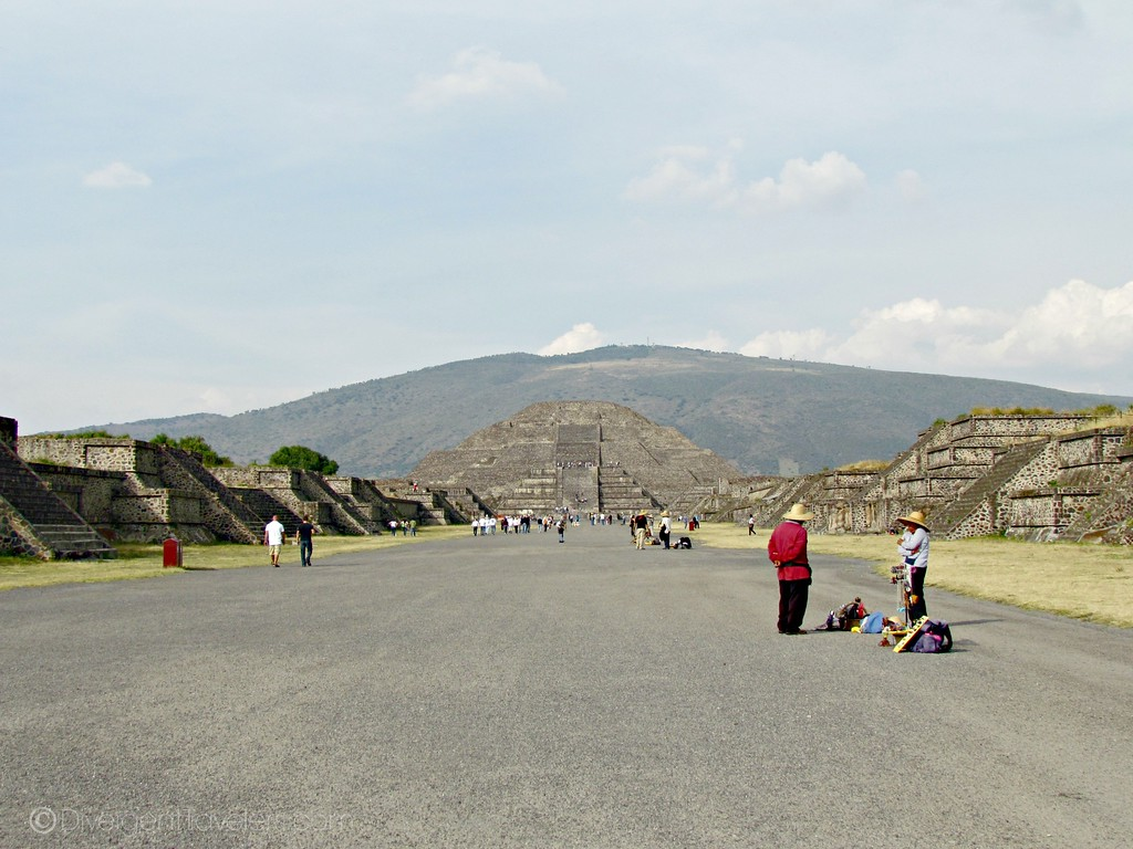Mexico City Pyramid of Teotihuacan