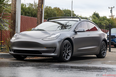 Model 3 - Vinyl Wrap - 3M 2080 Satin Dark Grey