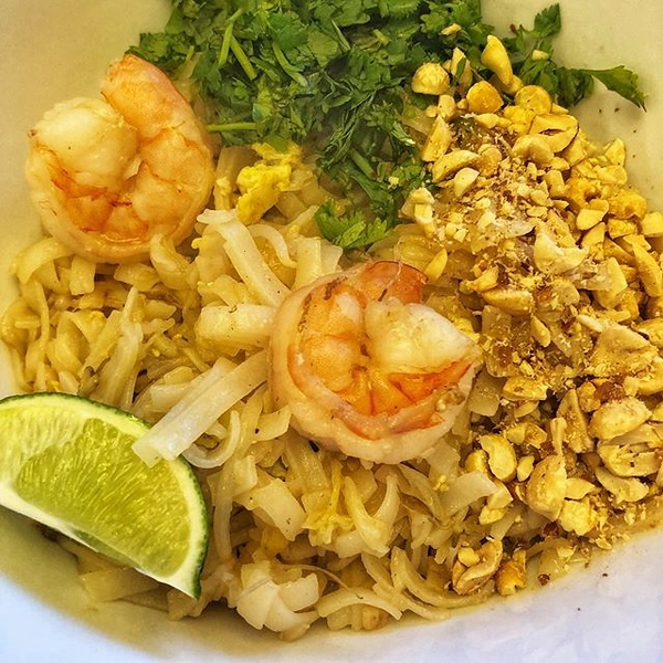 On the table tonite: homemade #shrimp #padthai