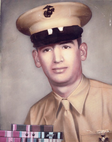 Sam Archuleta, USMC Sergeant and Vietnman Veteran, father of Corin Silva.